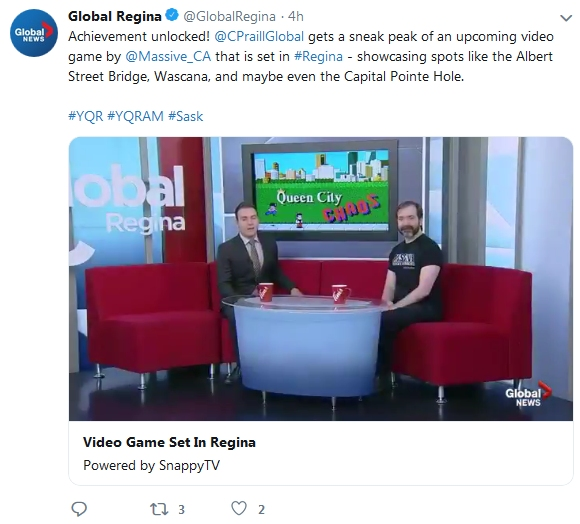 Massive Corporation CEO Kai Hutchence appearing with cohost Colton Praill on the Global Morning TV show May 27th 2019